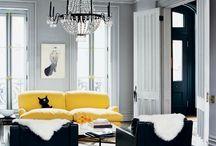 Sort hvid indretning