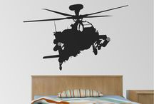 boys wall stickers / Vinyl boys wall stickers