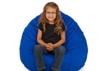 """SMALL BEAN BAG CHAIRS / Built TOUGH just for kids!   10 YR Warranty (not on """"inexpensive"""" line*). Made in the U.S.A. & Ships FREE!  Highest Quality Fabrics Available. Personalized (all but """"inexpensive"""" line*).  Super Tough YKK Zippers. Dozens of Colors to Choose From!"""