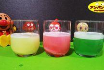 アンパンマン アニメ❤おもちゃ 泡あわジュースとアンパンマンおもちゃ!Anpanman toys