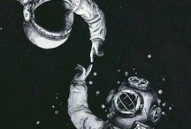 Astronauts and divers