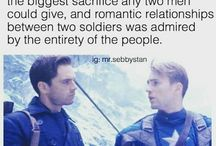 Captain America and a lot of Stucky