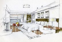 Interior architecture sketch