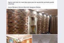 Detalhes e Acabamentos na decoração / Paredes em Ecobrock tijolo a vista