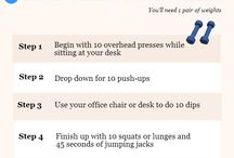 Stay Healthy Tips for Work & for Play / Tips to energize, keep the brain cells sharp, and stay healthy.