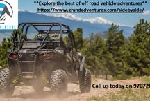 Off Road Adventures / Go for an off road side by side ATV adventures to enjoy breathtaking panoramic views of the Continental Divide, Rocky Mountains, and Fraser Valley only at Grand Adventures