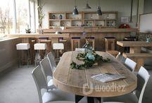 WOODIEZ   Industriële tafels / Industriële tafels geven je interieur een stoer en authentiek karakter. Wij maken al onze eetkamertafels en tuintafels op maat. Kies jouw favoriet!