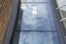 Frameless Glass Roofs, Vertical and Horizontal