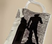 Alinari's Bags / The Amazing cloth bags printed with images of Alinari