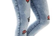 Pantalones femeninos Jeans