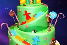 Candy land cakes
