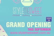 Grand Opening / We are proud to announce the grand opening of Style Me Sweet Childrens Clothing this coming September!  Check out our website: www.stylemesweet.com.au Please like and share our facebook page: www.facebook.com/stylemesweetclothing Follow us on twitter: www.twitter.com/stylemesweetAU Follow us on instagram: @stylemesweet_clothing
