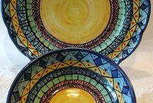 Set Piatto + Ciotola decorato a mano.Decorazione Etnica, by ilciliegio, 30,00 € su misshobby.com