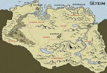 Skyrim maps / İt is About Skyrim And Tamriel maps