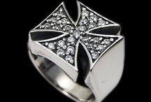 925 Sterling silver maltese biker ring