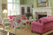 Pink and Green Living Rooms