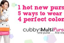 Cubby MultiPurse / 1 purse, five ways to wear it, 4 perfect colors!