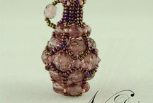 Miniature Beaded Pendant - Testi... - Beaded Pendant Tutorial /  Beaded Pentand Tutorial