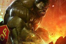 super hero / hulk marvekl dc bd illustration