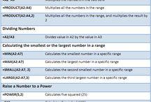 Excel Formulas Etc