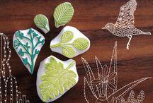 Hand carved stamps/Ręcznie wycinane stemple