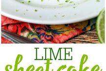 Lime Sheet Cake