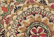 Technique: Kantha / Kantha is a type of embroidery popular in West Bengal - the entire cloth is covered with running stitches, employing beautiful motifs of flowers, animals, birds and geometrical shapes, as well as themes from everyday activities. The stitching on the cloth gives it a slight wrinkled, wavy effect.