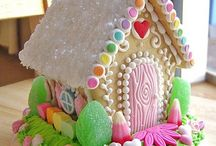 Easter Gingerbread Houses