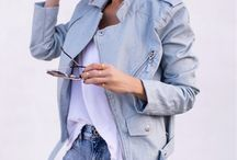 Outfit denim biker jacket
