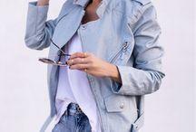 Outfit denim biker jacket