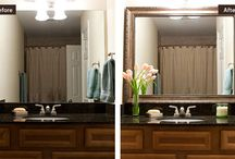 ▶ Before & After: Mirror Frames / Easy DIY Add-A-Frames from Frame My Mirror. Frame a mirror with a pre-cut frame that adheres directly to the mirror for a bathroom makeover.