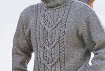 erkek kazak örgü modelleri
