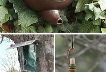 Inspiration: Bird Houses / DIY Bird Houses, Bird Feeders, and Bird Bathes