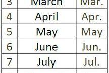 calendars etc.