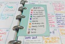 Agenda e organização