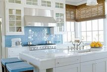 TILE & WALLPAPER / bathroom tile and wallpaper, floors, walls, bath, stair risers, interiors, interior design