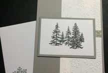 Home for the Holidays - Stampin Up! Holiday Cards / http://donnademko.stampinup.net.. Although it never snows in Southern California...I find that doing holiday cards are one of my favorites, I get to enjoy the beauty without braving the freezing temps!  Stampin Ups -Lovely As A Tree- Stamp set makes it easy to create several styles of cards since it comes with so many stamps in the set.