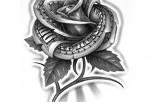 Róże tatoos