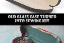 Glasses case sewing kit