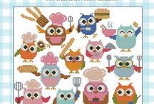 Cute Hooties / I love owl designs and these Hooties from Mini Cross Stitch are really cute