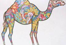 Adult coloring books / Egyéb képek különböző színezőkönyvekből...