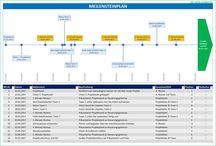 Projektplanung, Projektmanagement, Projektleitung / Hier findest du Excel-Vorlagen für die Projektleitung, Projektplanung und das Projektmanagement. Du suchst einen Projektstrukturplan, einen Meilensteinplan oder eine Protokollvorlage? Dann bist du hier genau richtig.