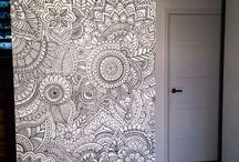 wall paintings (pattern)