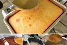 caldas para molhar bolos