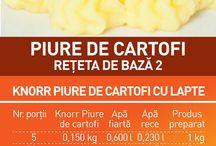 spune piure in 50 DE FELURI! / Pregatiti-va sortul, ingredientele, ustensilele si, nu in ultimul rand, piureurile Knorr - mixate cu o mare doza de imaginatie pentru 50 de retete de piure...