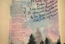 Bible lettering  <3