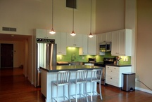 EcoMod @ work / Our kitchen designs lower the cost of carcass (cabinets)  so that more of the budget goes toward bamboo, cork, recycled glass, & reclaimed wood finishes. / by @ ecomod
