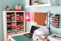 Excellent small sewing space / by Sandy Benson