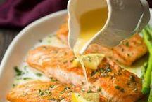 Saumon au beurre à l'ail et au citron