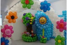 """Baby Shower Balloon Decor / Decorate your Baby Shower with balloons! Cute ideas for """"It's a Boy"""" and """"It's a Girl"""" events, from balloon arches to columns to centerpieces and sculptures."""